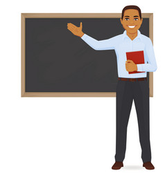 teacher at blackboard vector image