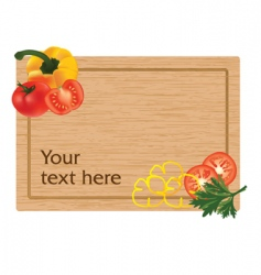 Vegetables on a chopping board vector