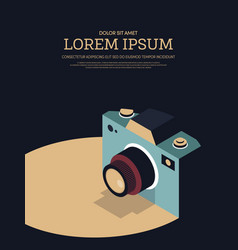 vintage retro camera poster background vector image