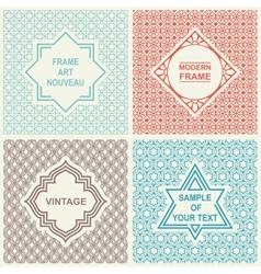 Vintage Set Templates Logo Labels and Badges vector