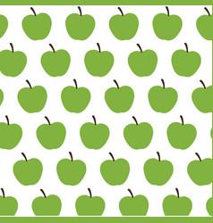 green apple fruit harvest fresh seamless pattern vector image
