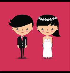 Groom and Bride Wedding Characters vector image