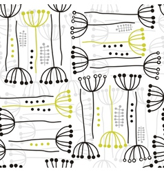 Abstract hand drawn wild flower patterns vector image vector image