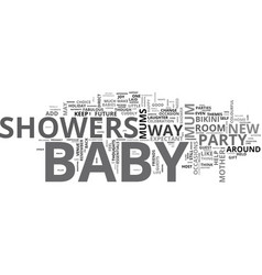 baby showers fabulous idea for bikini mums to be vector image