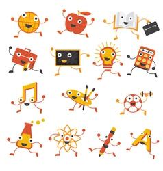 Education characters set vector