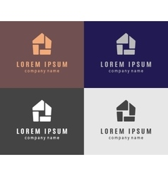 House logo collection vector image vector image