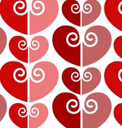 Love vintage seamless pattern vector image