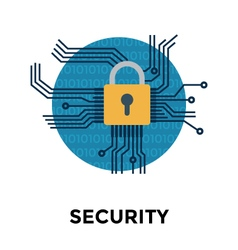 Network security icon vector