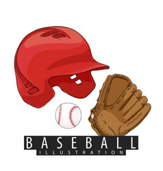 outfit for baseball vector image