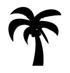 palm the black color icon vector image