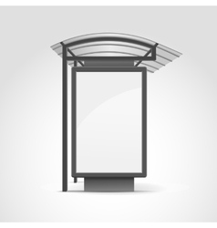 Public Transport Stop with Billboard and Place for vector image