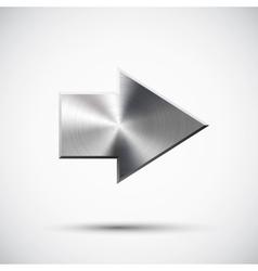 right metal arrow vector image
