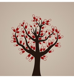 Tree a tablet vector image