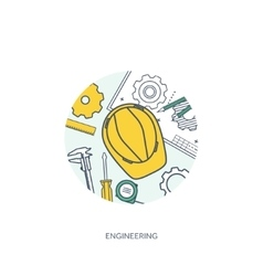 Lined outline Engineering vector image