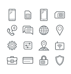 Mobile network operator icons vector image vector image