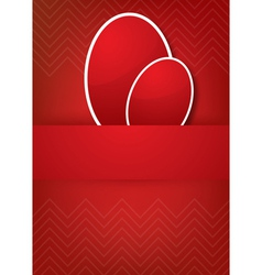 red easter egg vector image