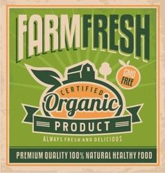 Retro farm fresh food concept vector