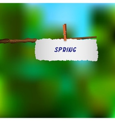 spring background 2 vector image vector image