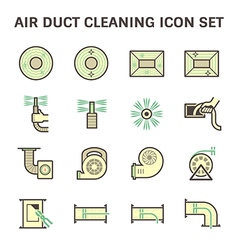 Air duct cleaning vector