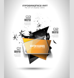 Infographic Layout for infocharts and item vector image vector image