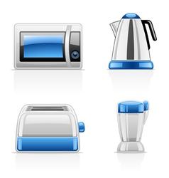 kitchen appliances vector image vector image