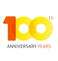 100 anniversary years logo vector image