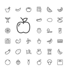 33 diet icons vector