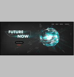3d futuristic technology website template vector