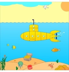 a submarine at sea vector image
