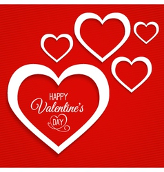 abstract card for Valentines Day vector image