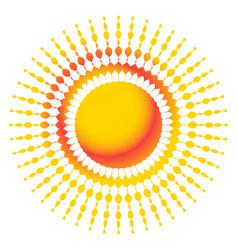 Abstract starburst sunburst design element with vector