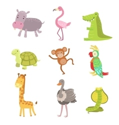 African Animals Icon Set vector