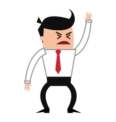 angry businessman yelling icon vector image