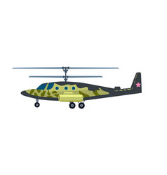 attack helicopter isolated icon vector image