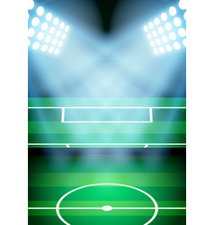 Background for posters night soccer football vector