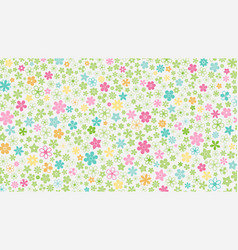 Background of small flowers vector