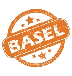 Basel round stamp vector