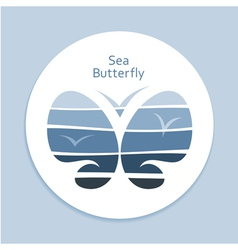 Blue Sea Butterfly vector