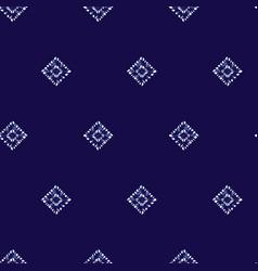 Blue shibori simple diamond square polka vector
