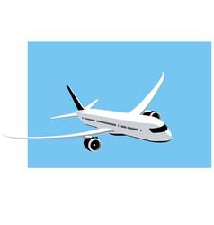 boeing 787 dreamliner commercial jet at sky vector image