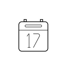 Calendar thin line icon outline logo vector