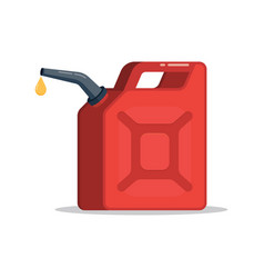 canister of gasoline with a drop fuel vector image