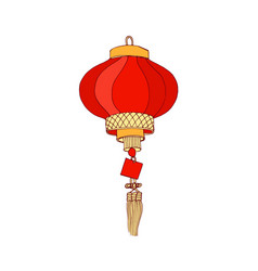 Chinese street lantern hanging decorative paper vector