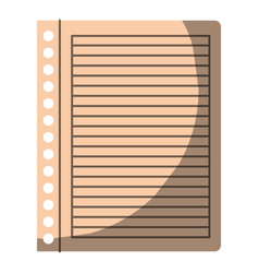 Colorful graphic of striped notebook sheet in vector
