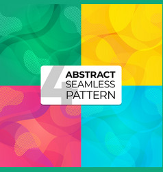 colorful set abstract seamless patterns for site vector image