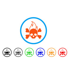death fire rounded icon vector image