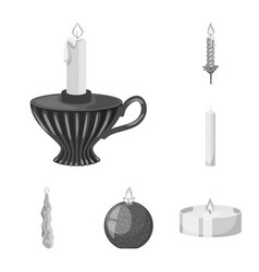 Design paraffin and fire symbol set of vector