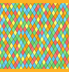 diamond pattern seamless multicolor vector image