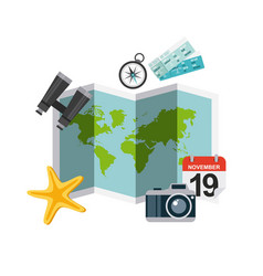 Enjoy vacations travel isolated icon vector