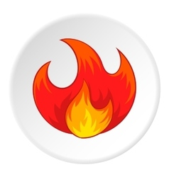 Fire icon cartoon style vector image